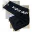 Ručník černý HAPPY GOLF (logo white)