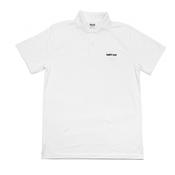 Tričko bílé HAPPY GOLF (logo black)
