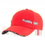 Čepice červená HAPPY GOLF (střední logo)