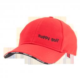 Čepice červená HAPPY GOLF (malé logo)