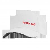 Čepice bílá HAPPY GOLF (malé logo)