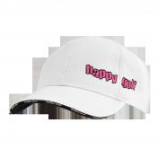 Čepice bílá HAPPY GOLF (střední logo)