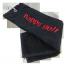 Ručník černý HAPPY GOLF (logo red)